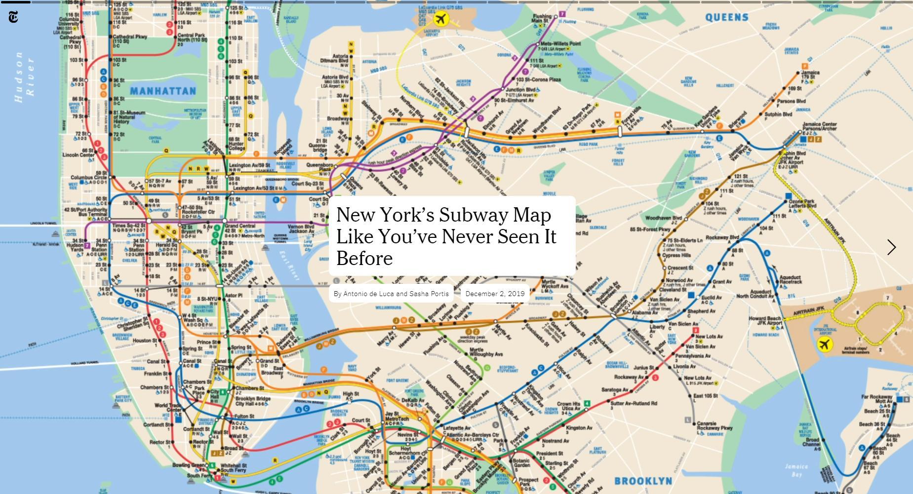 По линиям нью-йоркской подземки можно «проехаться» онлайн
