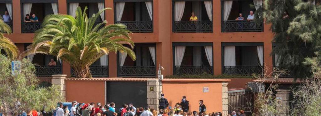«Меню» туристов живущих на карантине в отеле на Тенерифе