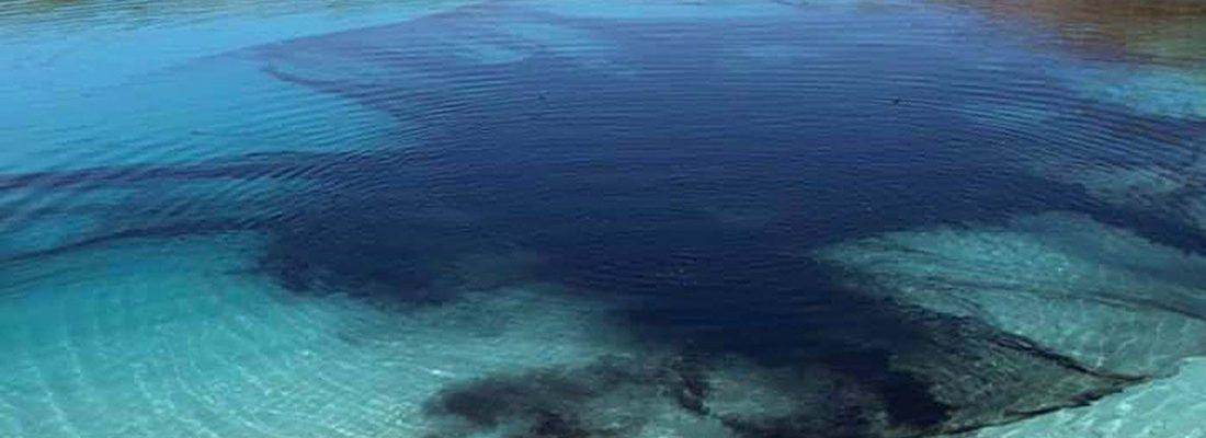 Из-за карантина «Голубую лагуну» в Великобритании залили черной краской